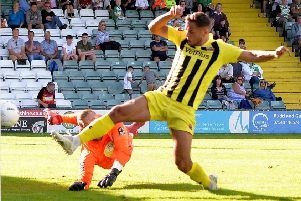 Kurt Willoughby scored twice when the Coasters lost at Yeovil Town this season                   Picture: Steve McLellan