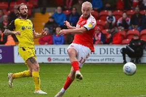 Paddy Madden scored a hat-trick when Town saw off Burton Albion at Highbury