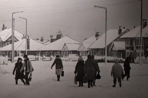 Snow caused major problems in Blackpool in January 1982