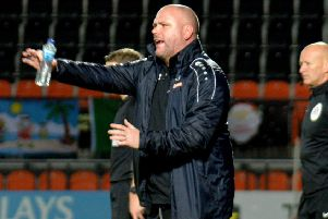 Jim Bentley's AFC Fylde squad are due to host Torquay United tomorrow'                      Picture: Steve McLellan