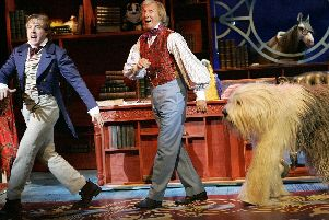 Tommy Steele (right) as Doctor Dolittle at the Grand Theatre