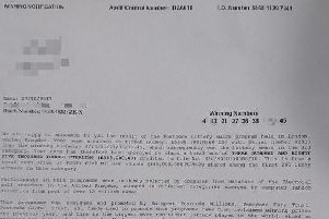 The scam lottery letter