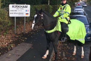Police horse Kirkham has died. Photo: Lancashire Mounted Unit