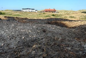 The sand dunes at St Annes were badly damaged in the fire