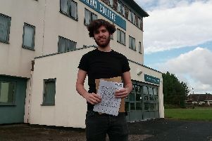 Will Hunt from St Annes collects his A-level results