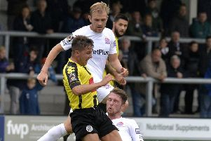 AFC Fylde midfielder Ryan Croasdale was disappointed by their FA Cup loss      Picture: Steve McLellan