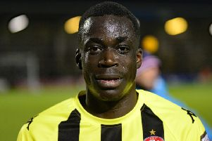 Arthur Gnahoua has hit the ground running with AFC Fylde    Picture: Steve McLellan