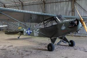 The Piper Cub which has been acquired by the aviation museum team at Hangar 42 in Blackpool Airport