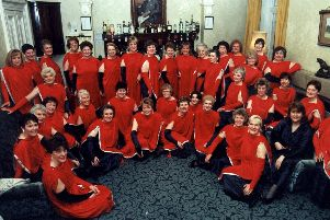 The Red Rosettes, Preston ladies barbershop singers, pictured at Farington Lodge Hotel, Leyland