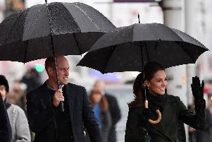 The Duke and Duchess of Cambridge arriving at Blackpool Tower at 12.25pm on Wednesday, March 6, 2019 (Picture: Getty Images)