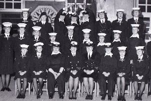 The best all-round unit in the UK, Preston 45th Unit Girls' Nautical Training Corps, shows of its coveted Mountbatten Trophy, proudly held by commanding officer, First Officer Denise Gravestock (left) and Second Officer Joyce Maxfield