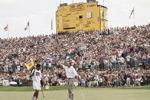 Tom Lehman wins The Open at Royal Lytham and St Annes in 1996   Picture: GETTY IMAGES