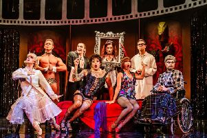 The cast of The Rocky Horror Show  in Blackpool from June 24