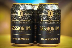 Cans of the new Hawksmoor Session IPA, produced in partnership with Thornbridge.