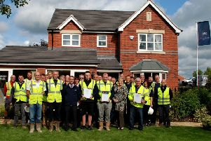 Wheeldon Homes celebrate a hat-trick of award wins at the National House Building Council (NHBC) awards