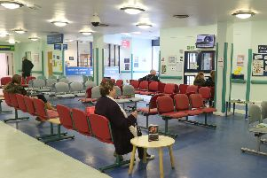 Chesterfield Royal, A+E, waiting room.