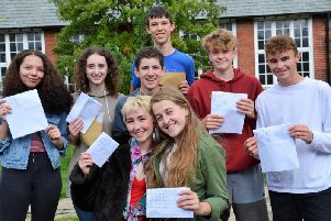 Yeat 11 students at Anthony Gell School receive their GCSE results.