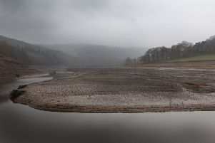 The historically low level of Ladybower reservoir after the dry summer of 2018. Picture by Jason Chadwick.