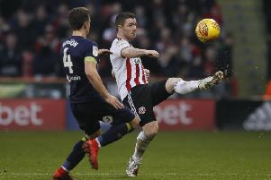 Action from Bramall Lane on Boxing Day.