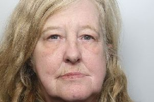 Pictured is Wendy Jane Undrill, 54, of Green Farm Close, Holme Hall, Chesterfield, who has been jailed for eight weeks for breaching a restraining order.