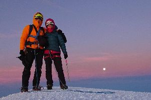 Kate Ballard has posted this photo of her and her brother Tom at the summit of Mont Blanc on Facebook. Photo - Kate Ballard