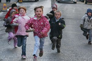 Youngsters have flipping good fun in the great pancake race of Winster 2010