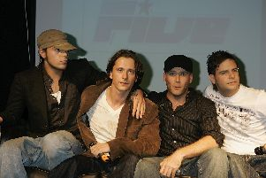 Richard Abs Breen, Ritchie Neville, Jason Brown, Scott Robinson of 5ive announce their reforming.