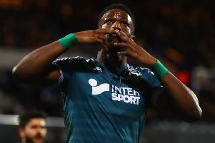 Omar Bogle, who has made a big impact at Portsmouth after joining them on loan. (PHOTO BY: Clive Rose/Getty Images)