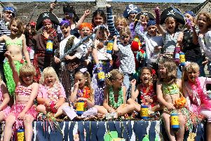 2nd Bakewell Methodist Brownies on the Pirates of the Caribbean float at Bakewell Carnival in 2007.