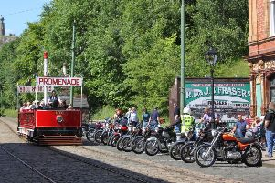 Classic Motorcycle Day at National Tramway Museum in Crich.