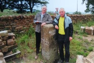 Pictured at the Stoop near Ashover are Howard Smith and Les Beeston.