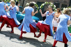 2007: Nottingham based dancers The Maids of Clifton perform The Basque at the Celebrating Cromford festival.