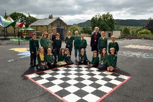 Ashover School's playground has had a makeover during the summer holidays.