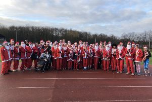 The Mirfield Co-op charity Santa Dash recently took place at the Princess Mary Athletics Stadium in Spenborough.