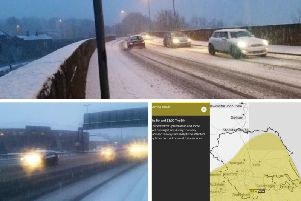 Snow has caused further chaos on the roads this morning as Leeds was covered in a blanket of white stuff.