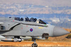 A Tornado GR4 was spotted in Leeds last month. Photo: PA