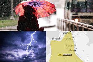 The Met Office have just issued a yellow weather warning for Yorkshire, as heavy rain and thunderstorms are expected on Friday between 11:00 and 20:00