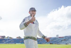 LEADING MAN: Yorkshire's Tim Bresnan's 5-28 were his best figures in his county championship career. Picture: Allan McKenzie/SWpix.com