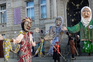 The Weeping Sisters were created in Dewsbury for Holocaust Memorial Day.