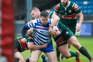 NO GAME: Hunslet's players in action against Halifax last weekend in the Challenge Cup