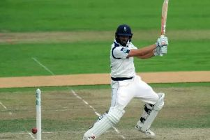 Jack Leaning scored a half century for Yorkshire on day one at Old Trafford
