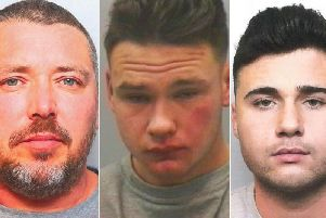 The gang who shipped lethal drug across the world from base in Morley. Left to right: Lee Childs, Jake Levene, Mandy Lowther.