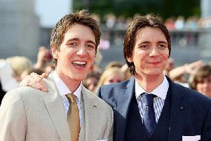 Harry Potter star Oliver Phelps (left) is excited to make his stage debut in Leeds