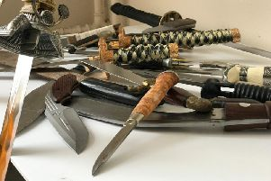 Knives taken off the streets of West Yorkshire during a previous amnesty.