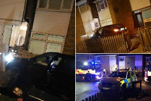 Leeds homes evacuated after car crashes into two houses in Glen Road, Morley