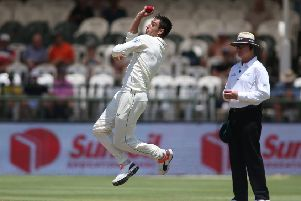 Duanne Olivier in action for South Africa against Sri Lanka at Newlands in the recent Test series. Picture: Shaun Roy/Getty Images