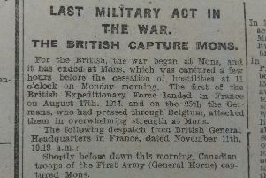 HERALD WAR REPORT: Notice from the Morpeth Herald, November 15, 1918.