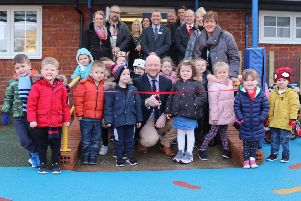 New play area delight for school
