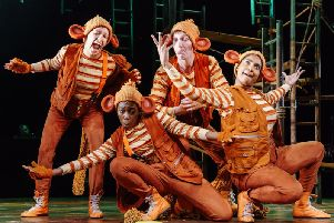 The company of monkeys in The Jungle Book. Picture by Manuel Harlan