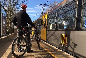 Bikes are now allowed on more of the Tyne and Wear Metro system during off peak hours.